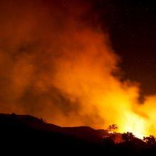 Kalifornijoje liepsnoja dideli miškų gaisrai