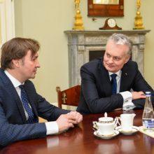 Prezidentas susitiko su išrinktuoju Vilniaus universiteto rektoriumi