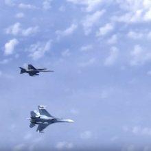 NATO: rusų naikintuvas nesaugiai priartėjo prie iš Lietuvos kilusio lėktuvo