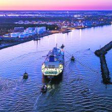 Klaipėdos uoste – kritimo preliudija