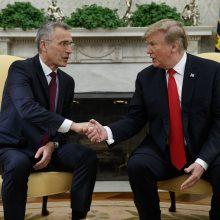 D. Trumpas nori, kad NATO narės ir toliau didintų išlaidas gynybai