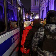 Kremlius: sulaikymai per neteisėtus mitingus negali būti vadinami represijomis