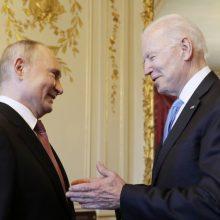 V. Putinas ir J. Bidenas atvyko į Ženevos vilą
