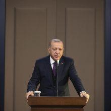 R. T. Erdoganas patvirtino: vetuos Baltijos šalių planus, kol negaus paramos