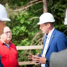 Vičiūnų vandens gerinimo įrenginių statybomis domėjosi Kauno vadovai ir ministras