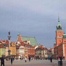 Varšuvoje didelis ūkininkų ir taksistų protestas sutrikdė eismą