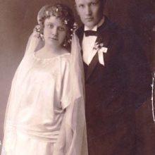 M. Bagdonas vestuvių dieną
