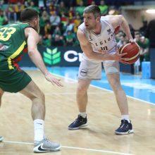 Lietuvos vyrų krepšinio rinktinė beviltiškai pralaimėjo Belgijai