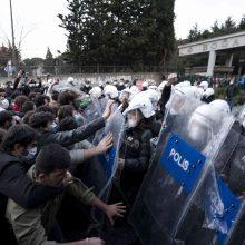 Stambule šimtai žmonių protestuoja prieš naują Bosforo universiteto rektorių