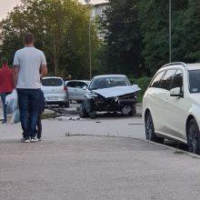 K. Griniaus gatvėje – dviejų automobilių avarija