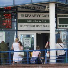 Baltarusijos opozicija prašo užsienio bankus blokuoti dviejų valstybinių bankų sąskaitas