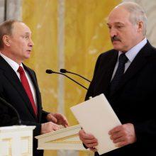 Kremlius: V. Putinas ir A. Lukašenka aptarė padėtį Baltarusijoje