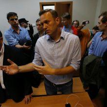 Rusijos opozicijos lyderiui A. Navalnui skirta 20 parų arešto