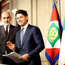 Sergio Mattarella ir Giuseppe Conte <span style=color:red;>(dešinėje)</span>