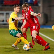 Lietuvos futbolininkai turėjo pripažinti Liuksemburgo pranašumą