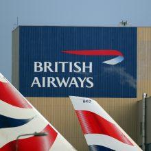 """""""British Airways"""" pilotai grasina rugsėjį streikuoti"""