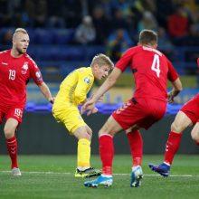 Lietuvos futbolo rinktinė pralaimėjo Ukrainoje
