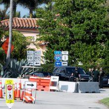 JAV sulaikyti du žmonės, bandę įsibrauti į D. Trumpo rezidenciją Floridoje