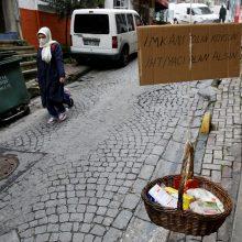 Turkijoje koronavirusas nusinešė dar 69 gyvybes