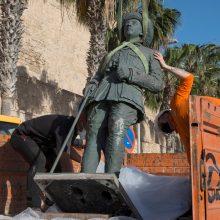 Ispanijoje demontuota paskutinė F. Franco statula