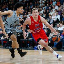 Staigmena Prancūzijoje – ASVEL krepšininkai palaužė Maskvos CSKA