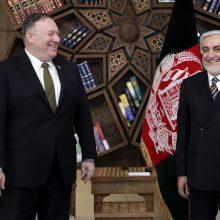 M. Pompeo Katare susitiks su talibų lyderiais