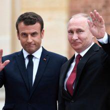 """Paryžius ragina V. Putiną reaguoti į Ukrainos """"pasiūlymus"""" dėl karo užbaigimo"""