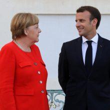 Paryžius: E. Macronas, A. Merkel ir V. Zelenskis penktadienį aptars įtampą su Rusija