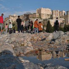 Atėnų Akropolyje per žaibo smūgį sužeisti keturi žmonės
