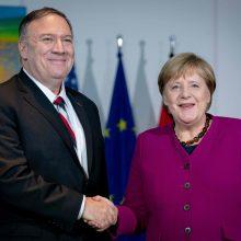 M. Pompeo ir A. Merkel pabrėžė glaudžius JAV ir Vokietijos ryšius
