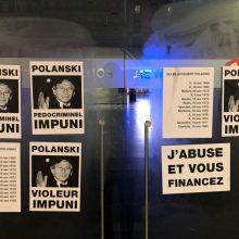 Briuselyje protestuotojai užpuolė R. Polanskio filmą rodžiusius kino teatrus