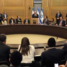 Izraelio įstatymų leidėjai siūlo balsuoti dėl parlamento paleidimo