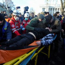 Kijeve protestuotojams susirėmus su policija sužeisti 19 žmonių