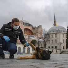 Turkijoje per parą užfiksuota daugiau kaip 2000 naujų COVID-19 atvejų, 63 mirtys