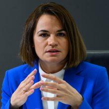 """S. Cichanouskaja ragina Prancūziją imtis """"ryžtingų veiksmų"""" dėl Baltarusijos"""