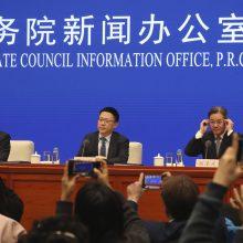 Kinija iškvietė JAV ambasadorių dėl Honkongo sankcijų