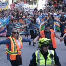 Prie klimato aktyvistės G.Thunberg eitynių Monrealyje prisijungė pusė milijono žmonių