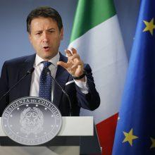 Italijos parlamentas antrąkart balsuos dėl pasitikėjimo G. Conte vyriausybe