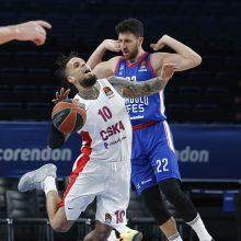 """""""Anadolu Efes"""" išrašė CSKA komandai didžiausią pralaimėjimą klubo istorijoje"""