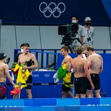 Lietuvos plaukikams estafetės varžybos baigėsi diskvalifikacija