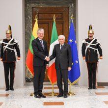 G. Nausėda su Italijos vadovu aptarė dvišalius santykius, bendradarbiavimą