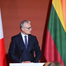 G. Nausėdos tostas per oficialią vakarienę Prancūzijos  prezidento garbei