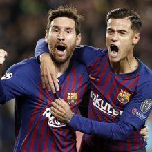 """""""Ajax"""" ir """"Barcelona"""" futbolininkai žengė į Čempionų lygos pusfinalį"""