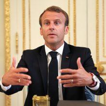E. Macronas: Prancūzija atliks vaidmenį kuriant naują saugumo architektūrą Europoje