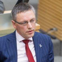 """Seimo NSGK pirmininkas V. Bakas paliko """"valstiečių"""" frakciją"""