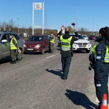 Į Kauną per pirmąją ribojimo parą neįvažiavo beveik 3,5 tūkst. automobilių