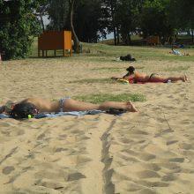 Kaitri saulė kauniečius išginė į paplūdimius