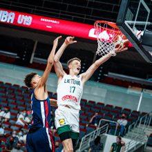 Dramatiškame ketvirtfinalyje Lietuvos devyniolikmečiai nusileido Prancūzijos krepšininkams