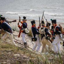 Pajūryje griaudėjo napoleonmečio ginklų šūviai