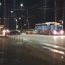 """V. Krėvės prospekte susidūrė """"Škoda"""", BMW ir autobusas"""
